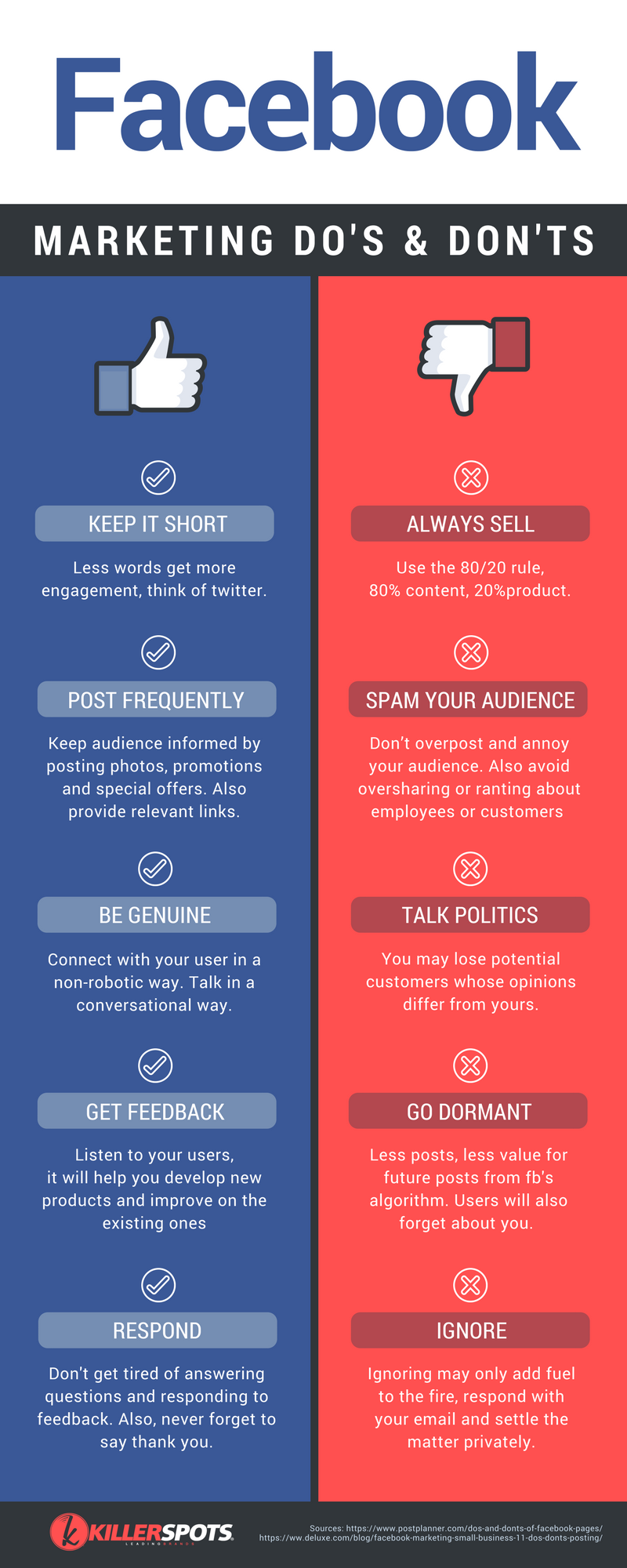 facebook marketing dos and donts
